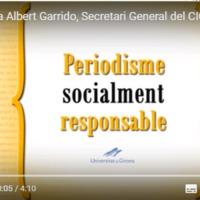 Entrevista a Albert Garrido, Secretari General del Consell de la Informació de Catalunya, sobre les funcions del CIC i la responsabilitat social dels mitjans de comunicació