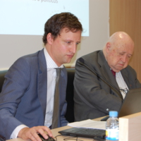 Scott Langham (Press Complaints Comission) i Josep Maria Cadena (CIC)