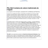 Pitu Abril reclama els valors tradicionals esport.pdf