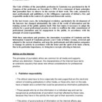 Discurs i presentació del CIC a l'Alliance of Independent Press Councils of Europe 2014 (Brussel·les), sobre el nou Codi Deontològic