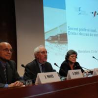 """Intervenció de Roger Jiménez a la taula rodona de la Jornada """"Secret Professional: drets i deures de metges i periodistes"""""""