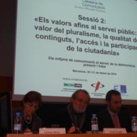 """Llúcia Oliva a l'acte """"Mitjans de Comunicació al servei de la democràcia"""", organitzat per la Societat Catalana de Comunicació"""
