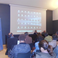 """Material gràfic de la xerrada """"Periodisme no és taquigrafia"""", a càrrec de Jaume Barberà i Roger Jiménez (CIC) a la biblioteca pública de Barcelona Poblenou-Manuel Arranz"""