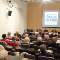 Mario Cugat, president de Fatec; Dolors Gordi, Secretaria de Família del Dpt. de Benestar Social i Família; Lluís Foix, periodista; i Llúcia Oliva, presidenta del CIC