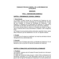 Estatuts del Consell de la Informació de Catalunya