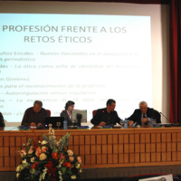 """Presentació de l'informe """"La experiencia de 15 años del Consejo de la Información"""" a la II International Conference on Media Ethics (Sevilla)"""