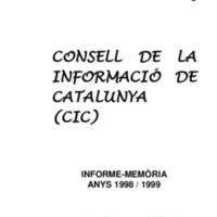 Memòria CIC 1998-1999