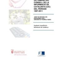 Estudi: balanç dels dictàmens del CIC del període 1997-2011