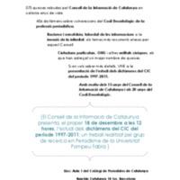 Presentació de l'estudi del balanç dels dictàmens del CIC del període 1997-2011 (CARTELL)