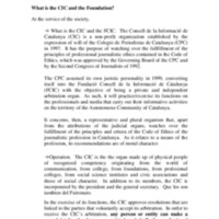Informe del CIC presentat a l'Alliance of Independent Press Councils of Europe 2014 (Brussel·les)
