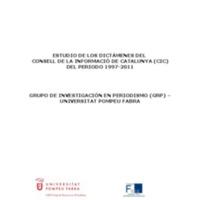 Estudio: balance de los dictámenes del CIC del periodo 1997-2011