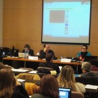 Intervenció de les representants de La Independent, Marta Macias i Fabiola Llanos