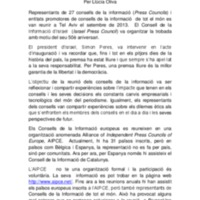 Resum del CIC sobre la reunió de l'Alliance of Independent Press Councils of Europe 2013 (Tel Aviv, Israel)